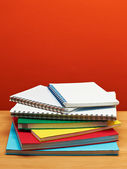 Back to School Series: stack of books and notepads — Stock Photo
