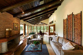 Interior design series: classic rustic living room — ストック写真