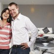 Royalty-Free Stock Photo: Young happy couple at their new house