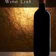 Wine List Design Series: Bottle of red wine with copy space — Stock Photo #19415363