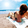 Stock Photo: Relax at beach
