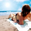 Relax at the beach — Stock Photo
