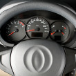 Steering wheel close up - Stock Photo