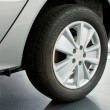 Car wheel - Foto Stock