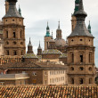 Antique architecture in Zaragoza, Spain - Stock Photo