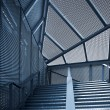 Abstract modern steel stairways - Stok fotoraf