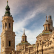 The basilica of El Pilar in Zaragoza, Spain — Stock Photo