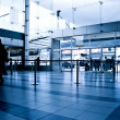 Business peple at airport — Stock Photo