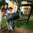 Mother and son playing — Stock Photo #19417811