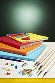 Back to School Series: school supplies — Stock Photo