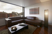 дизайн интерьера серии: современная гостиная — Стоковое фото