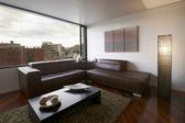 室内设计系列:现代客厅 — 图库照片