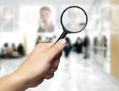 Human Resources concept: Searching the best employee — Stock Photo