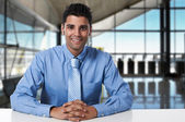 Young successful business man at office — Stock Photo