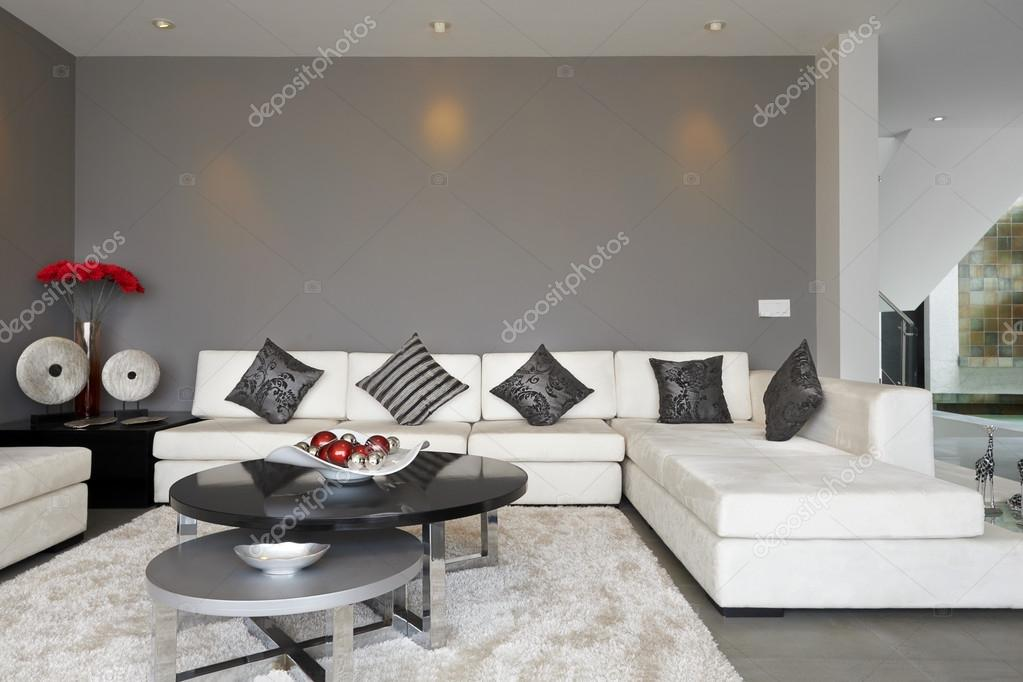 Fotos Van Modern Interieur : Black and Grey Living Room Sectional