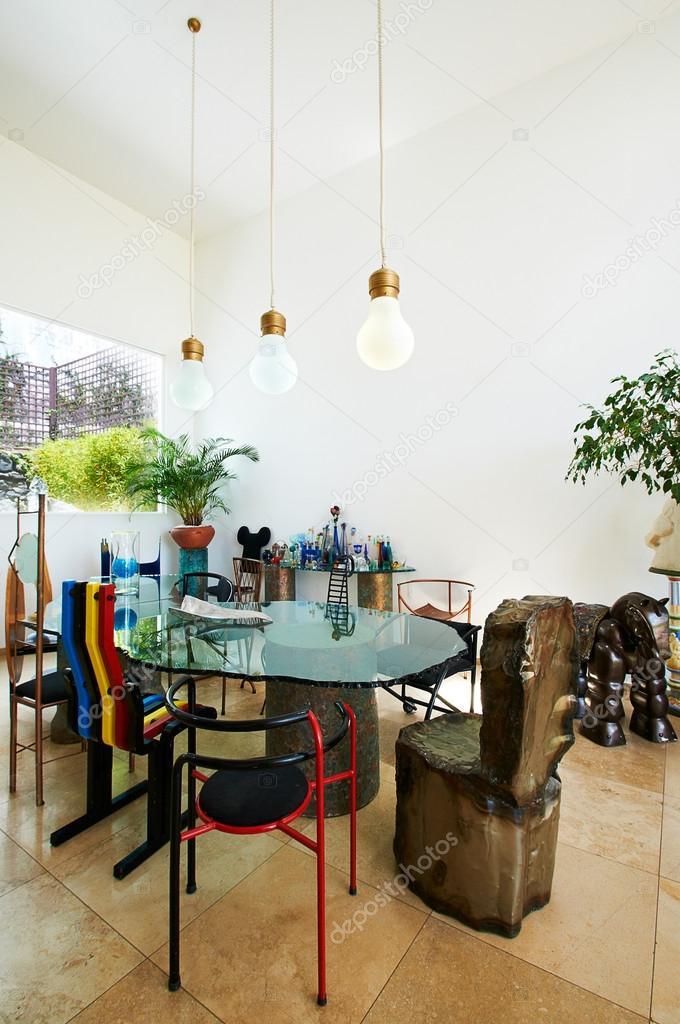 Serires de diseño de interiores: sala comedor — fotos de stock ...