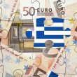 European financial crisis concept: Greece out of the eurozone — Stock Photo