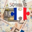 European financial crisis concept: Crisis in France — Stock Photo