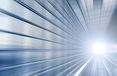 Speed motion blue tunnel moving fast concept — Stock Photo