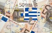 European financial crisis concept: Greece out of the eurozone — Stock Photo