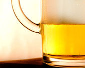 Closeup of glass with beer — Stock Photo