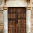 Old style Egyptian closed door — Stock Photo