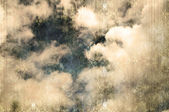 Retro image of cloudy sky — Stock Photo