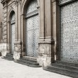 Stock Photo: Antique architecture: Medieval europechurch's door