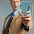 Businessman technology touch concept — Stock Photo