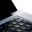 Stock Photo: Laptop keyword closeup