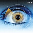 Stock Photo: Technology eye scan radar