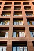 Orange brick buildings departments in Spain — Stock Photo