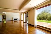 Pusty duży pokój dzienny — Zdjęcie stockowe