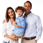 Happy Family: mother, father and son — Foto de Stock