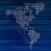 World map airline flights path travel plans — Stock Photo