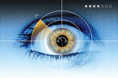 Technology eye scan radar — Stock Photo