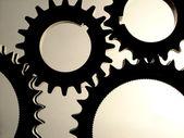 Industrial gears — Stock Photo