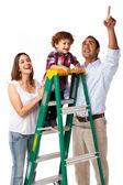 Mutlu bir aile: anne, baba ve oğul — Stok fotoğraf