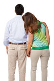 Young happy couple back view — Stock Photo