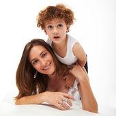 Filho e mãe brincalhão — Foto Stock