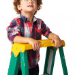Stock Photo: Young kid looking up for future