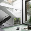 Stock Photo: Interior Design: Stairs and Waterfall