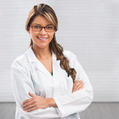 Smiling medical woman doctor — Foto de Stock