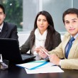 Stock Photo: Group of business at office