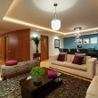 Interior design: Big Modern Living room — Stockfoto