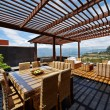 Stock Photo: Interior design: Beautiful terrace loung with pergola