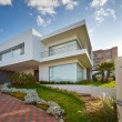 Foto Stock: Big modern house