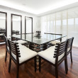 Interior design: Modern elegant dining room — Stock Photo