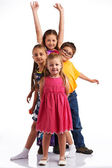 Group of happy kids — Foto Stock