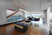 Interior design: Big living room — Stock Photo